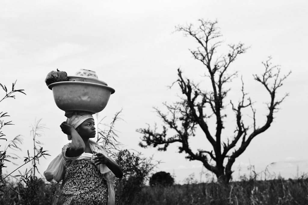 Woman and Tree - Ghana