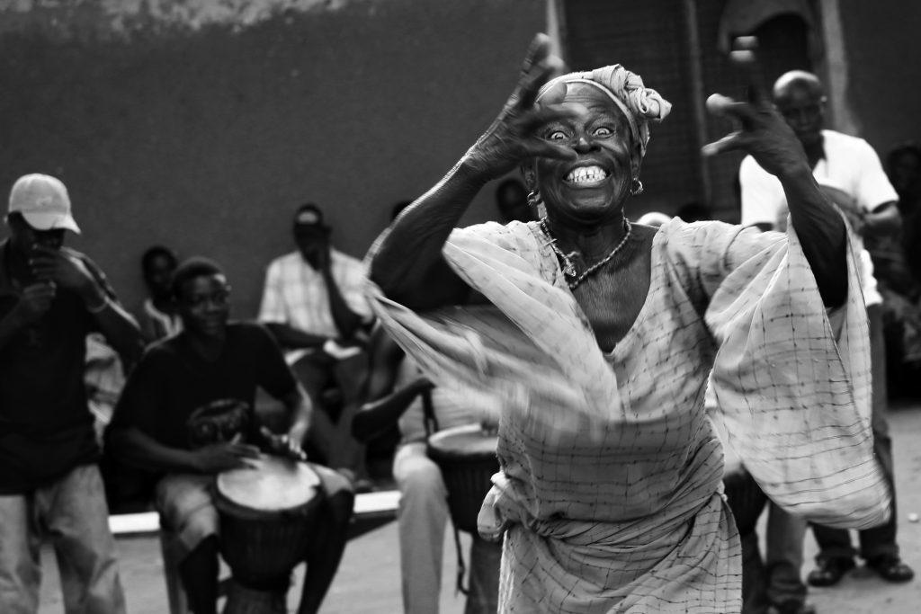 Woman dancing - Ghana